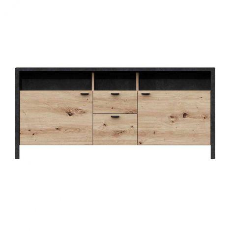 TV-Möbel In-Loft 135cm - Eiche alt/schwarz