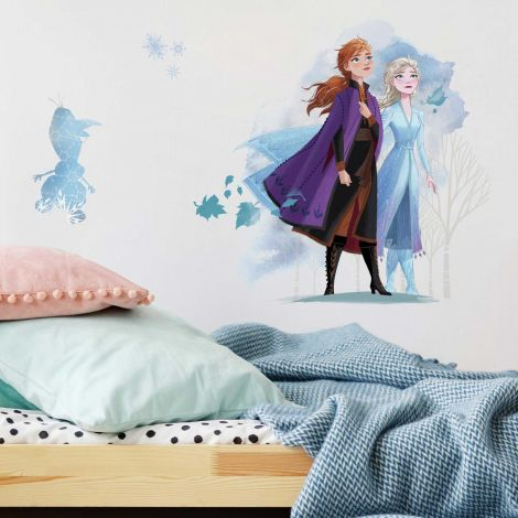XL Wandaufkleber Frozen 2 Anna, Elsa und Olaf