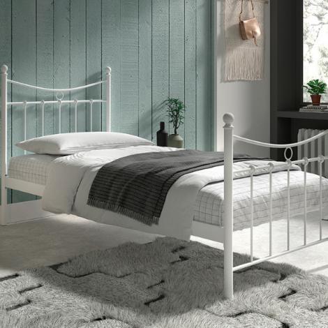 Bett Liza mit Lattenrost 90x200 - weiß