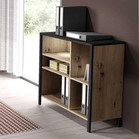 IN-LOFT 2 - Regal breit - Artisan Oak Nb/Stahl dunkel