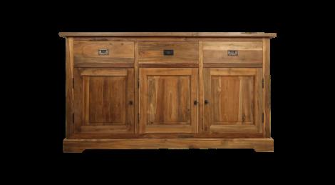 Sideboard 3-türig - antik - teakfarben