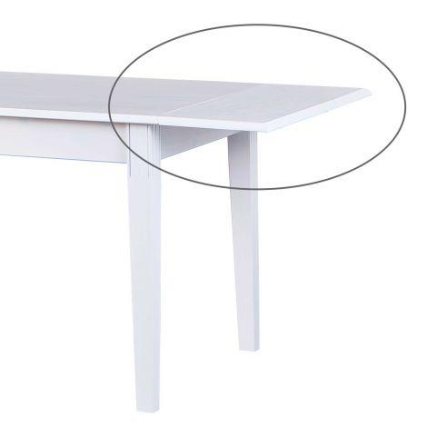 Esstisch-Verlängerungsstück Westerland 40 cm - weiß