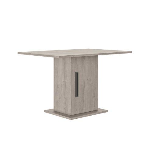 Tisch mit Ablagefach Bosy 80x120 - Eiche hellgrau