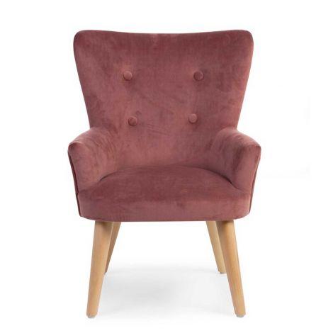 Kleines Sofa 1P Bordeaux Velvet