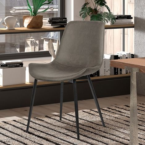 Satz von 2 Stühlen Monaco - grau