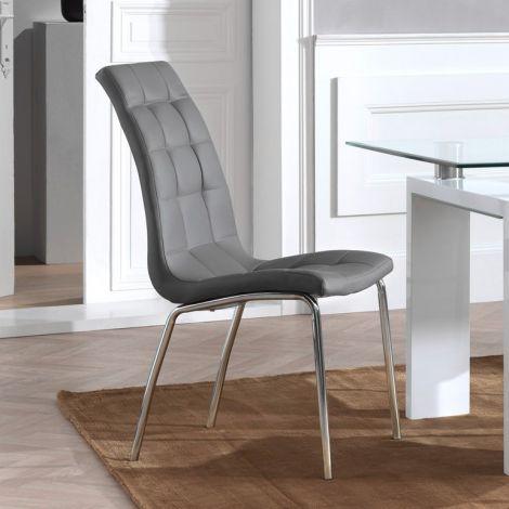Satz von 2 Stühlen Merlino - grau