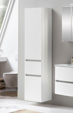 Säulenschrank Kornel/Pisca 40cm 2 Türen und 1 Schublade - weiß