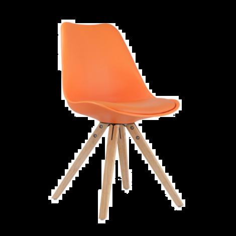 Satz von 2 Stühlen Lady - orange