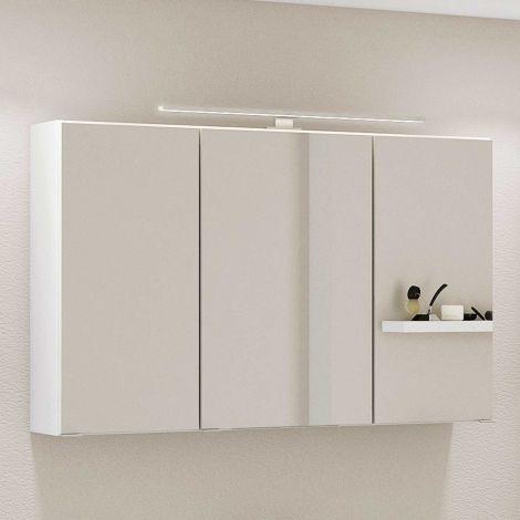 Spiegelschrank Hansen 100cm 3 Türen - weiß
