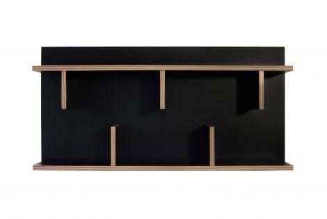 Wandregal Basel  - schwarz/Multiplex