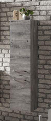 Säulenschrank Stivan 30cm 2 Türen - Eiche grau