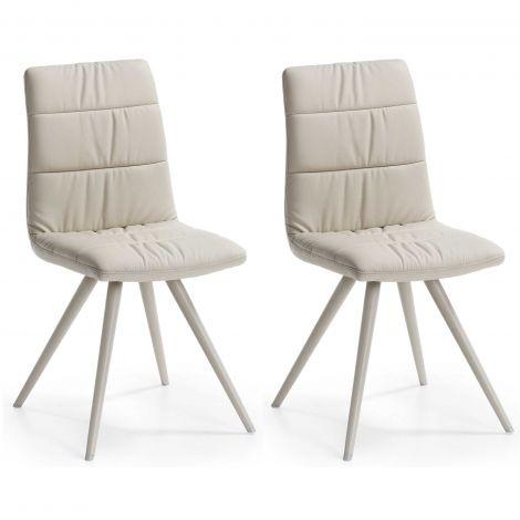 Set mit 2 Stühlen Larina Modell 2 - beige