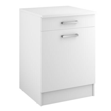 Unterschrank Uno 60 cm mit Schublade und Tür