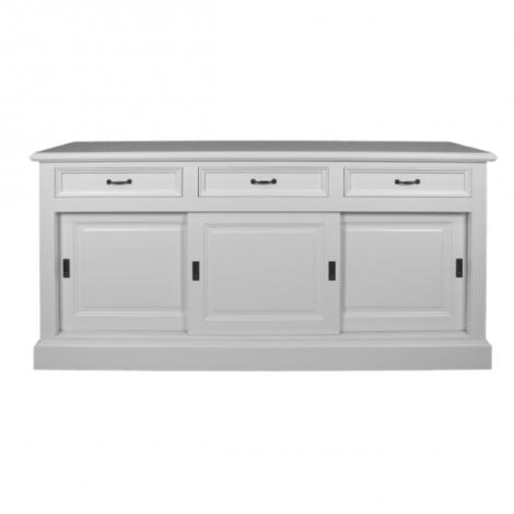 Sideboard Provence 150cm mit 3 Türen und 3 Schubladen - weiß
