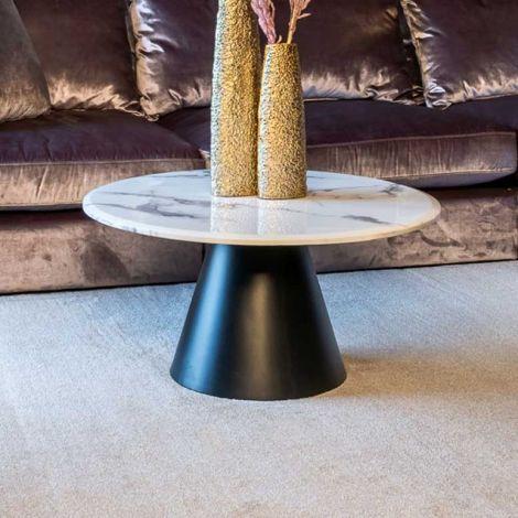 Couchtisch Degas 80cm - weiß/schwarz