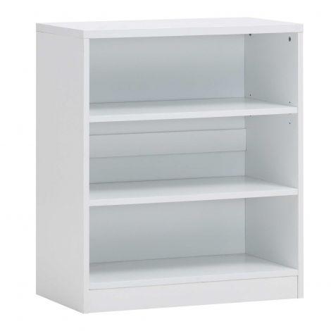 Bücherregal Spacio 72cm mit 2 Einlegeböden - weiß
