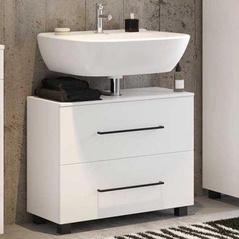 Waschbeckenschrank Dusan 70cm mit 1 Schublade und 1 Tür - weiß