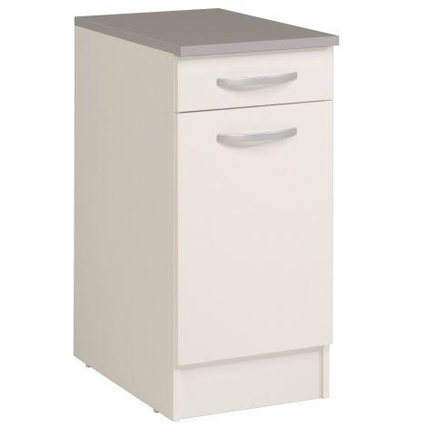 Unterschrank Eko 40x60 cm mit Schublade und Tür - weiß