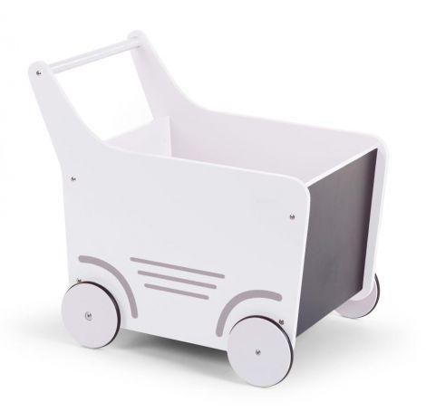 Holzwagen - weiß