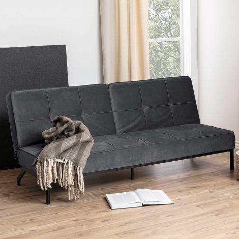 Perugia sofa bed - black, dark grey