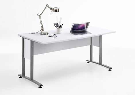 Schreibtisch Gabi 160 cm - Hochglanz weiß