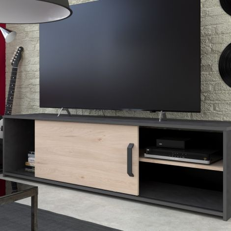Tv-Möbel Leandro 155cm - anthrazit/peak