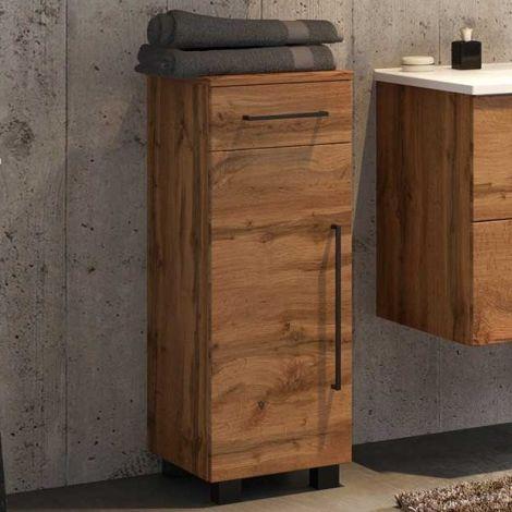 Badezimmerschrank Dusan 30 cm mit 1 Tür und 1 Schublade - wotan Eiche Dekor