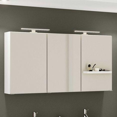 Spiegelschrank Hansen 120cm 3 Türen - weiß