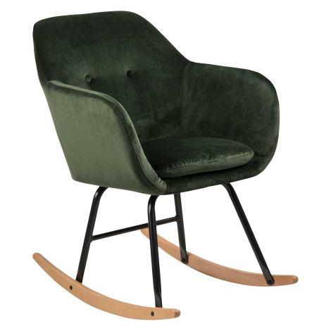 Emilia rocking chair - forest green, oak;black