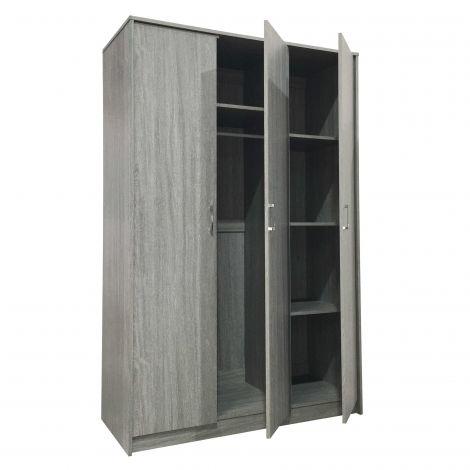 Kleiderschrank Ray 3 Türen - Eiche grau