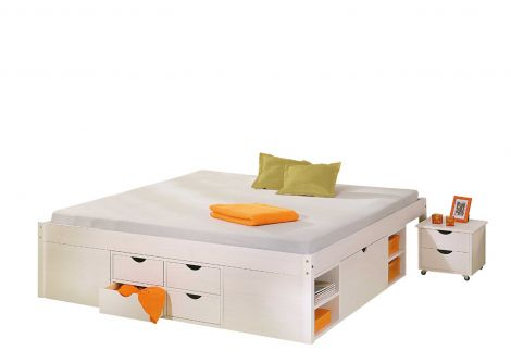 Bett Xavier 140x190 - white wash