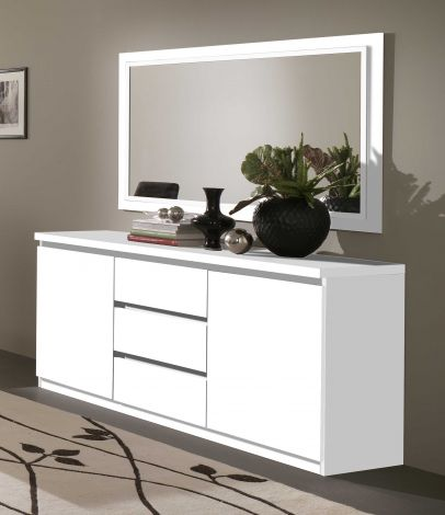 Roma Weiss Kommode 2t/3l