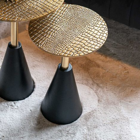 Beistelltisch Cabral 30cm - schwarz/gold