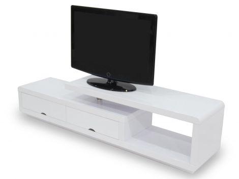 TV Lowboard Crystal - weiß