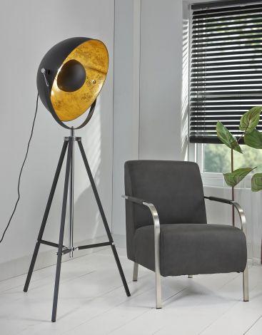 Stehlampe - Spotlight - schwarz