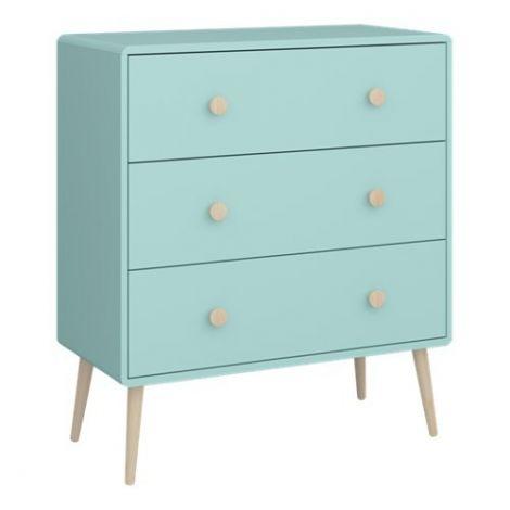 Dressor GAIA 011 - Dresser with 3 drawers - COOL MINT
