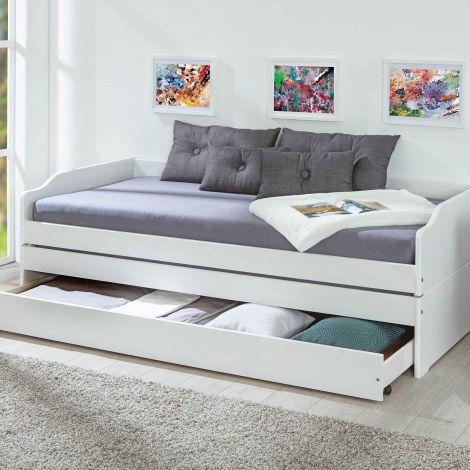 Kojenbett Lothar 90x200 cm - white wash